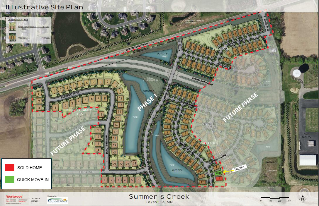Summers Creek Villas map