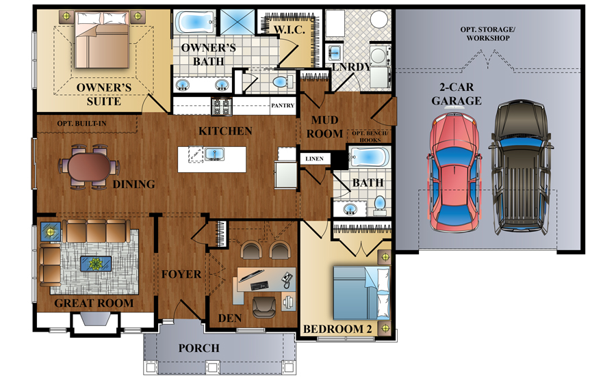 The Gables Floor Plan